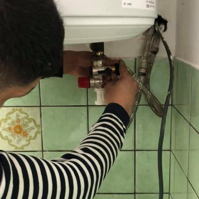 Mise en place d un goupe de securiter lors d une installation boiler